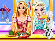 Rapunzel Arruína a Comida de Elsa