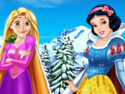 Rapunzel e Branca de Neve: Roupas de Inverno