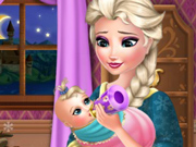 Elsa Cuida do Bebê