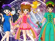 Vista a Sakura, a Tomoyo e o Syaoran