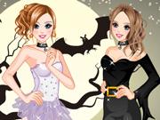 Duas Irmãs Celebrando o Halloween
