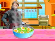 Kristoff Prepara Ovos Picantes