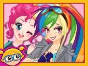 Maquie a Rainbow Dash e a Pinkie Pie