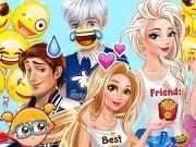 Elsa e Rapunzel: A Festa dos Emojis