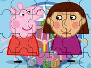 Quebra-Cabeça de Peppa e sua amiga