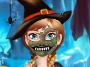 Frozen Pintura de Rosto no Halloween