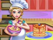 Elsa Grávida Cozinha Panquecas