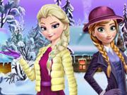 Elsa e Anna: Vestidos de Natal