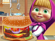 Masha e o Urso Preparam Um Hambúrguer Gigante