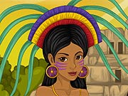 Vestir a Menina como uma Inca