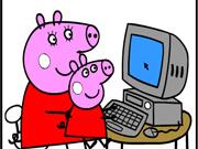 Colorir o Computador da Peppa Pig