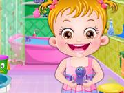 Baby Hazel e A Higiene no Banheiro