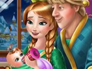 Anna e Kristoff Cuidam do Bebê
