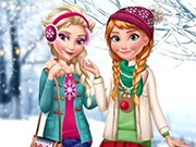 Elsa e Anna: Vestidos de Inverno