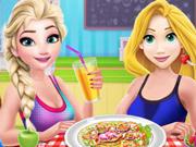 Princesas Disney Preparam Uma Salada