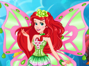 Ariel se Veste de Fada Winx
