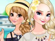 Irmãs Frozen Na Praia