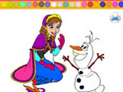 Colorir Anna e Olaf