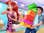 Ariel e Eric Compram Roupas