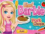 Chef Barbie Cozinha Costeleta de Porco