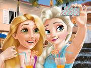 Elsa e Rapunzel Tiram uma Selfie
