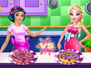 Elsa e Branca de Neve Preparam Rosquinhas