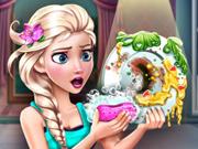 Elsa Lava Pratos na Cozinha