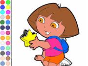 Colorir Dora com Estrela