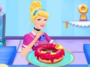 Cinderela preparando rosquinhas