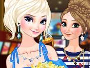 Irmãs Frozen no Cinema