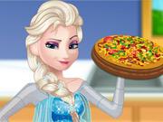 Elsa Grávida Cozinha Pizza