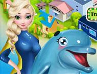 Elsa Apresenta Show de Golfinho