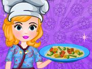 Sofia Prepara Massinha Chinesa