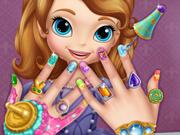 Pinte as Unhas da Princesinha Sofia