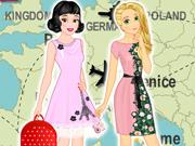 Rapunzel e Branca de Neve: Férias na Europa