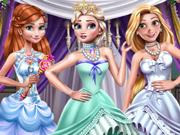 Baile de Gala de Inverno com Três Princesas