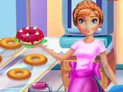 Princesa Anna prepara rosquinhas