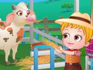 Baby Hazel Vai à Fazenda