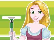 Rapunzel Arruma a Casa Abandonada