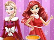 Jantar de Natal com a Ariel e a Elsa