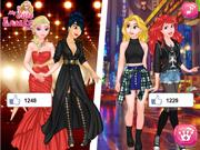 Elsa e Rapunzel: Vestidos de Luxo vs Roupas Casuais