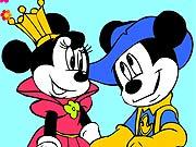 Pinte a Minnie e o Mickey