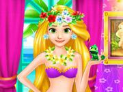 Na Praia com Rapunzel