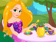 Rapunzel toma Chá com a Elsa