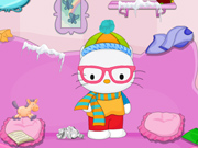 Hello Kitty: Limpeza do Quarto no Inverno