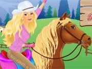 Barbie Montando a Cavalo