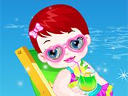 Bebê Lulu na Praia