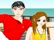 Vista o Casal na Praia