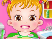Neném Hazel Lava Seus Dentinhos