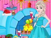 Princesas de Frozen: Limpeza no Natal